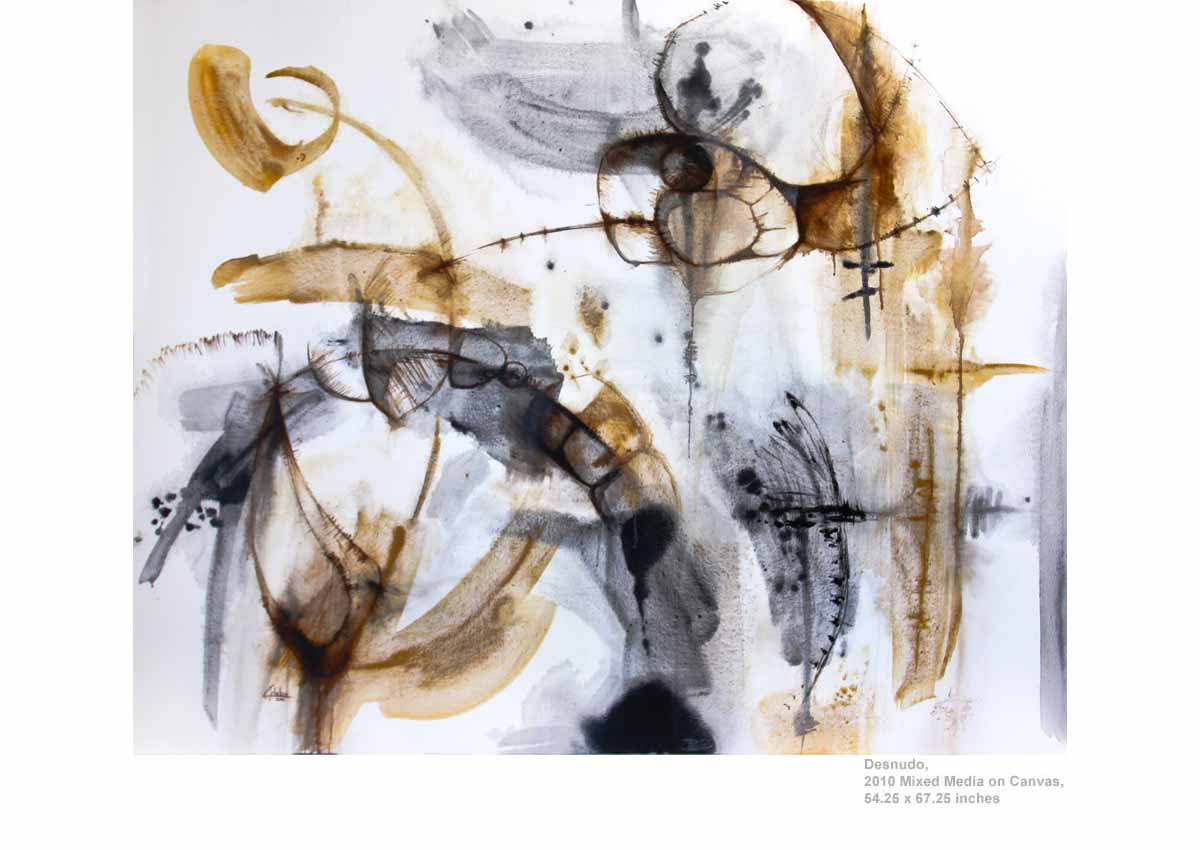 Desnudo, 2010  Mixed Media on Canvas, 54.25 x 67.25 inches