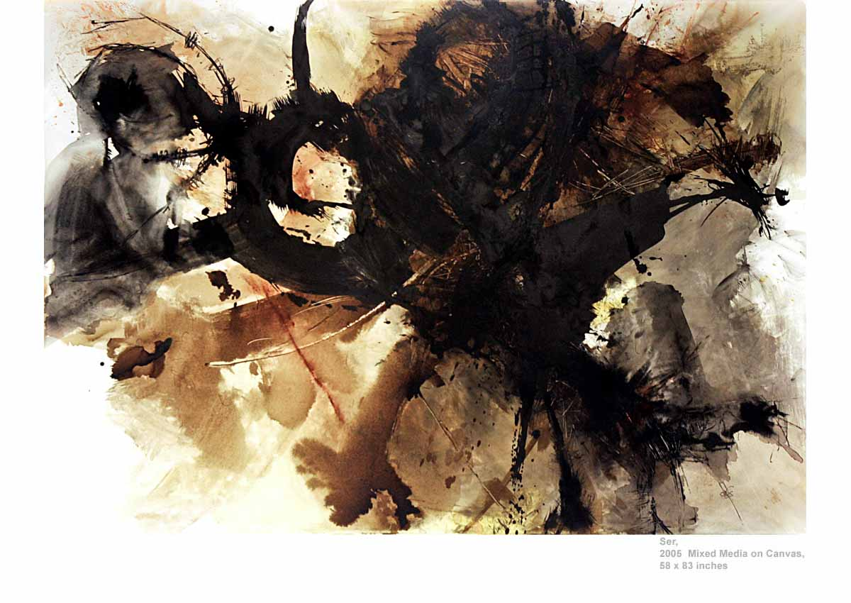 Ser, 2005  Mixed Media on Canvas, 58 x 83 inches