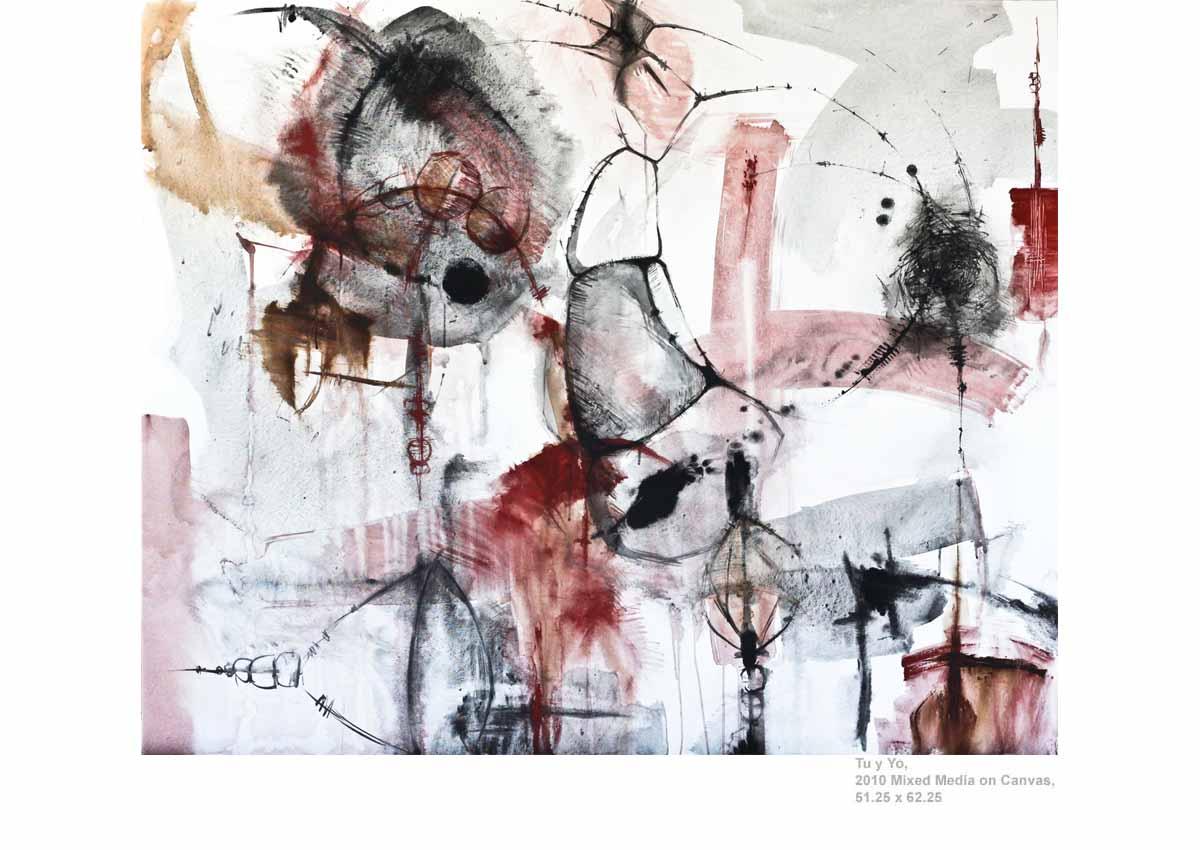 Tu y Yo, 2010  Mixed Media on Canvas, 51.25 x 62.25