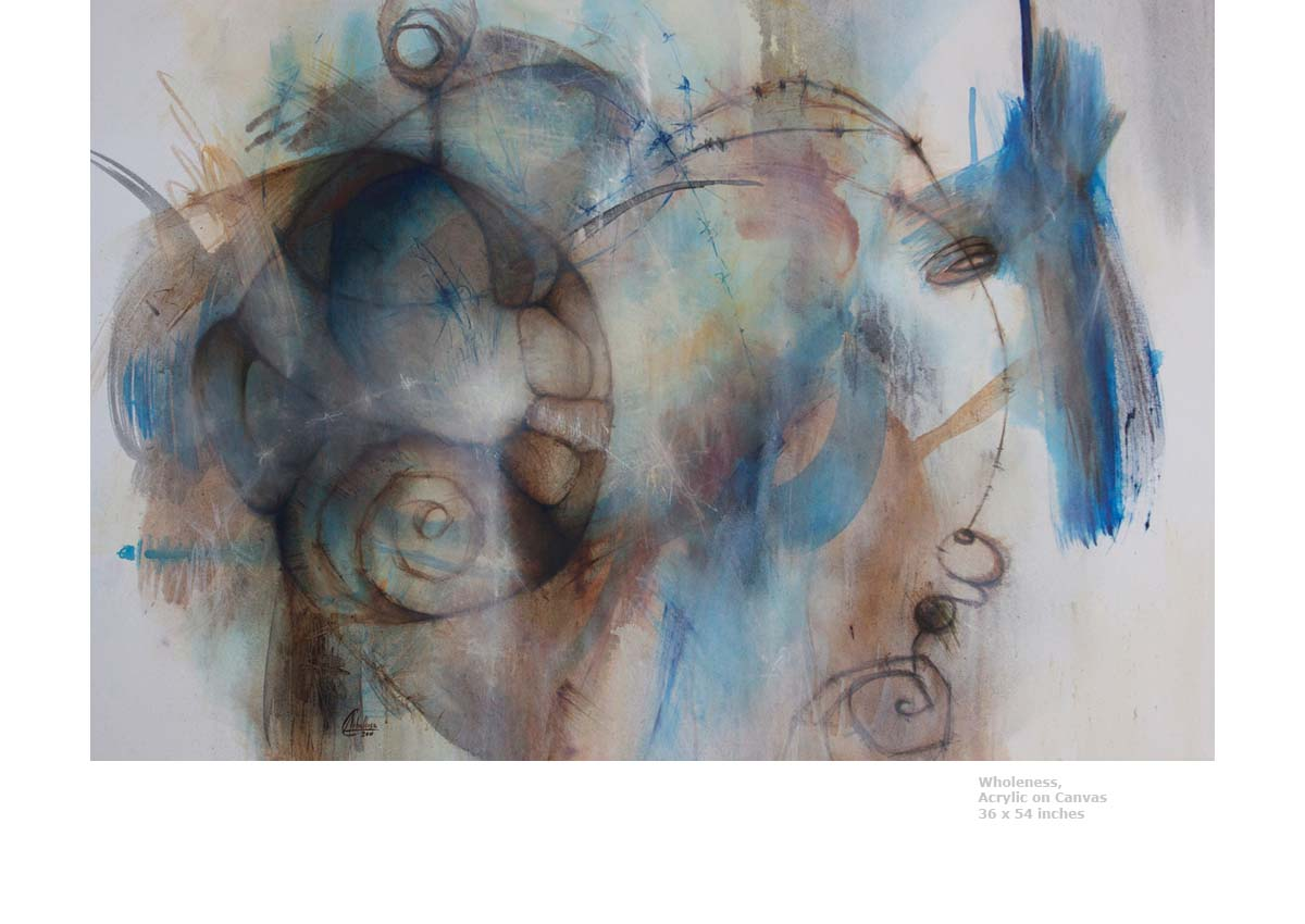 Wholeness, 2011  Acrylic on Canvas  36 x 54 inches